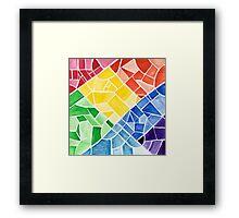 Mosaic Rainbow Framed Print