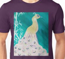 peacock in teal Unisex T-Shirt