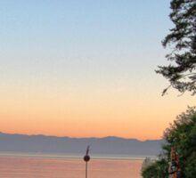 Sunset from Sooke Sticker