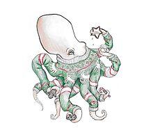 Merry Octopus Photographic Print