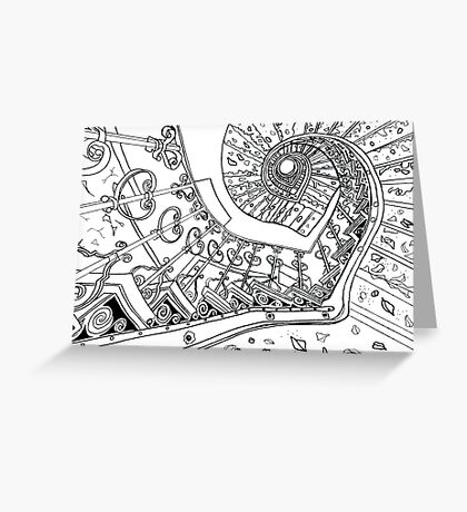 Spiral Decay Illustration Greeting Card