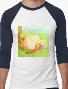 Micah the Mareep Men's Baseball ¾ T-Shirt