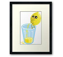 Lemonade Lemon Pee Framed Print