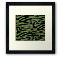 0467 Olive Green Tiger Framed Print