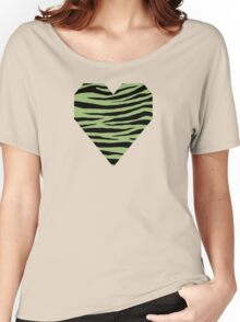 0468 Olivine Tiger Women's Relaxed Fit T-Shirt