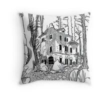 Forgotten Manor Throw Pillow