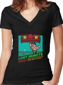 Lost Remote (NES My Life) Women's Fitted V-Neck T-Shirt