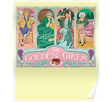 Stay Golden Girls 1980s Vintage English Tea Unisex T-Shirt Poster