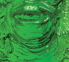 Creature from the Black Lagoon Drip Art Sticker