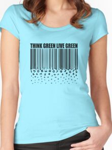 THINK GREEN LIVE GREEN Women's Fitted Scoop T-Shirt