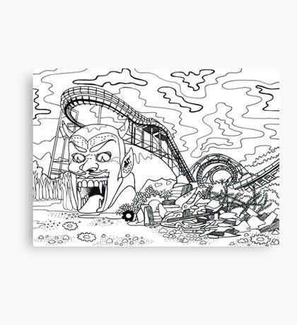 Forgotten Amusement Park Canvas Print