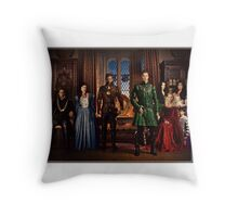 The Charmillstiltskin Family Throw Pillow