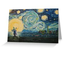 Hold Me Tight (Starry Night Meets Toronto) Greeting Card