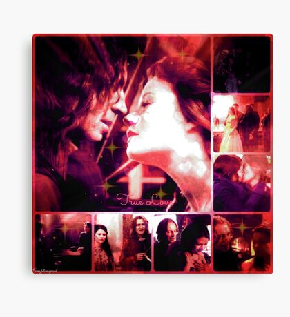Belle and Rumplestiltskin  Canvas Print