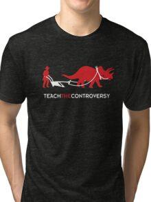 Dinosaur Human Coexistence Tri-blend T-Shirt
