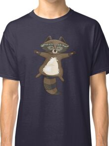 Funny little raccoon in the night Classic T-Shirt