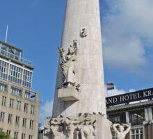 National Monument, Dam Square, Amsterdam, Netherlands Sticker