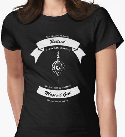 Madoka Magica Retired Magical Girl tee Womens Fitted T-Shirt