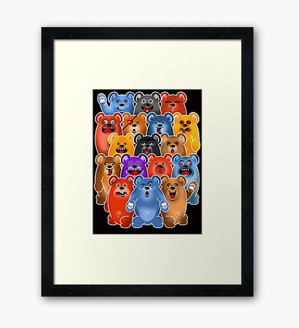 BEAR CROWD 3 Framed Print