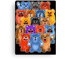 BEAR CROWD 3 Canvas Print