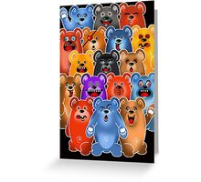 BEAR CROWD 3 Greeting Card