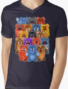BEAR CROWD 3 Mens V-Neck T-Shirt