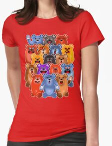 BEAR CROWD 3 Womens Fitted T-Shirt