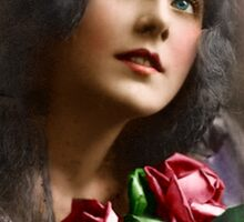 Colorized Vintage Young Beauty II Sticker