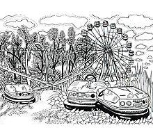Chernobyl Ferris wheel Photographic Print