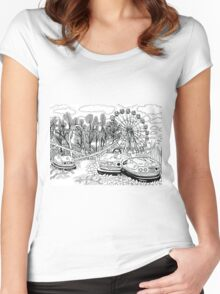 Chernobyl Ferris wheel Women's Fitted Scoop T-Shirt