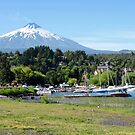 Villarrica Volcano over Pucon by Graeme  Hyde