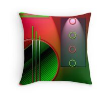 #59 Abstract Digital Art; circles & lines. Throw Pillow