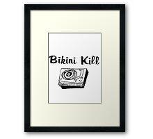 Bikini Kill (on white) Framed Print