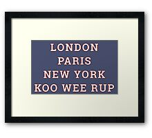 The Great Cities - Koo Wee Rup Framed Print