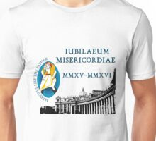 Extraordinary Jubilee of Mercy with logo, 2015 - 2016 (B) Unisex T-Shirt