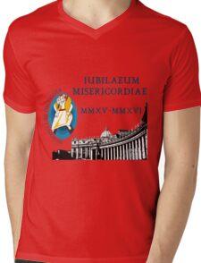 Extraordinary Jubilee of Mercy with logo, 2015 - 2016 (B) Mens V-Neck T-Shirt