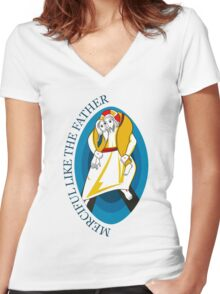 Extraordinary Jubilee of Mercy Women's Fitted V-Neck T-Shirt