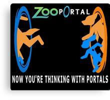 Zootopia with portals Canvas Print