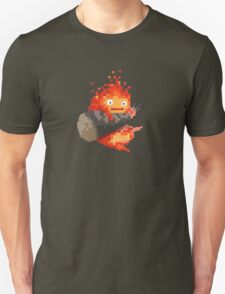 Calcifer, 8-bit painting style (Howl's moving castle) Unisex T-Shirt
