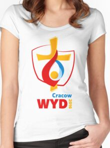 World Youth Day 2016 in Cracow logo Women's Fitted Scoop T-Shirt