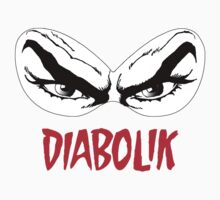 Diabolik eyes comic hero, with name Baby Tee