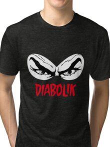 Diabolik eyes comic hero, with name Tri-blend T-Shirt