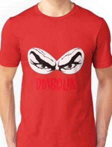 Diabolik eyes comic hero, with name T-Shirt