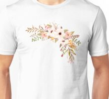 Pastel Watercolor Bouquet Peach Unisex T-Shirt