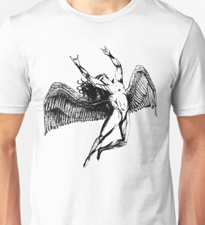 ICARUS THROWS THE HORNS - black Unisex T-Shirt