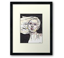 Psychedelic Self/ ORIGINAL PAINTING by Amit Grubstein  Framed Print