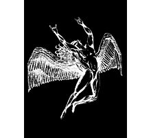 ICARUS THROWS THE HORNS - white Photographic Print