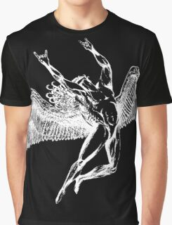 ICARUS THROWS THE HORNS - white Graphic T-Shirt