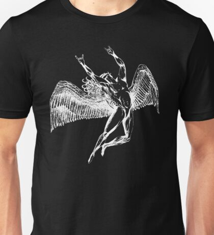 ICARUS THROWS THE HORNS - white Unisex T-Shirt