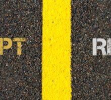 Antonym concept of ACCEPT versus REFUSE Sticker